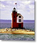 Round Island Lighthouse Straits Of Mackinac Michigan Metal Print