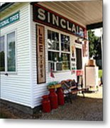 Route 66 Filling Station Metal Print