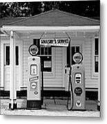 Route 66 - Soulsby Station Pumps Metal Print