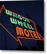 Route 66 - Wagon Wheel Motel Metal Print