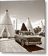 Route 66 Wigwam Motel Metal Print