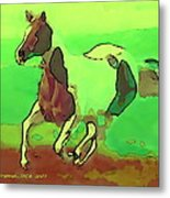 Running Horse Metal Print by David Skrypnyk