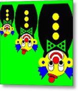 3 Russian Clown Dolls stand on the head for you Metal Print