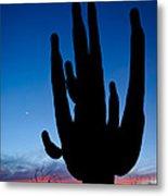 Saguaro Silhouette Metal Print
