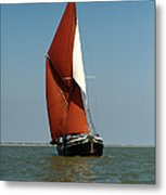 Sailing Barge Metal Print by Gary Eason