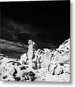 Sandstone Rock Formations At Valley Of Fire State Park Nevada Usa Metal Print