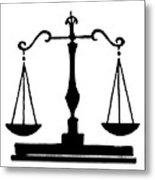 Scales Of Justice Metal Print