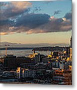 Seattle Dusk Metal Print