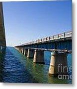 Seven Mile Bridge Florida Keys Metal Print