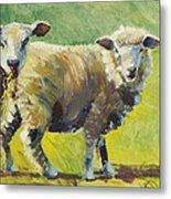 Sheep Painting Metal Print
