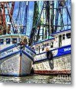 Shrimp Boats Season Metal Print
