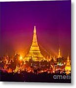 Shwedagon Paya - Yangoon Metal Print
