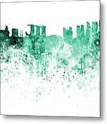 Singapore Skyline In Watercolour On White Background Metal Print