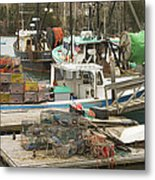 South Bristol And Fishing Boats On The Coast Of Maine Metal Print