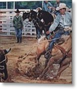 South Texas Cowboy Metal Print