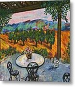 Spot To Wine And Dine Metal Print