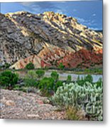 Spring Storm Over Split Mountain Dinosaur National Monument Metal Print