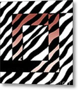 3 Squares With Ripples Metal Print