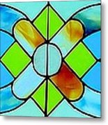 Stained Glass Window Metal Print by Janette Boyd