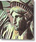 Statue Liberty Metal Print