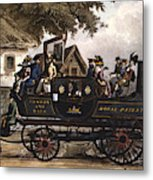 Steam Carriage Metal Print