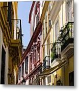Streets Of Seville - Magic Colours Metal Print