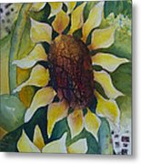 3 Sunflowers Metal Print