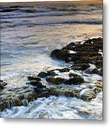 Sunset At The Mediterranean Sea Metal Print