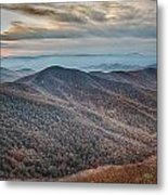 Sunset View Over Blue Ridge Mountains Metal Print