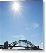 Sydney Harbour Bridge In Australia  Metal Print