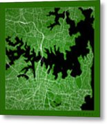 Sydney Street Map - Sydney Australia Road Map Art On Color Metal Print
