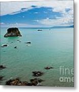 Tasman Sea At West Coast Of South Island Of Nz Metal Print