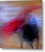 Tauromaquia Abstract Bull-fights In Spain Metal Print by Guido Montanes Castillo