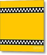 Taxi Background Metal Print