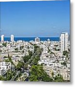 Tel Aviv Israel Elevated View Metal Print