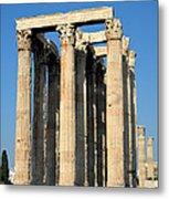 Temple Of Olympian Zeus In Athens Metal Print by George Atsametakis