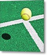 Tennis Ball Metal Print