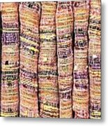 Textile Background Metal Print