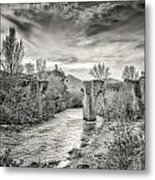 The Ancient Bridge At Ponte Novu In Corsica Metal Print