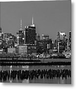 The Empire State Building Pastels Metal Print