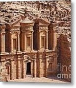 The Monastery At Petra In Jordan Metal Print
