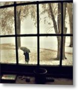 The  October Snow Metal Print