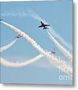 The Red Arrows Eastbourne Metal Print