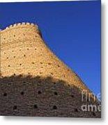 The Walls Of The Ark At Bukhara In Uzbekistan Metal Print