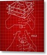 Thumb Wrestling Game Patent 1991 - Red Metal Print