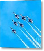 Thunderbirds And Blue Sky  Metal Print