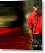 Tiger Woods Metal Print by Marvin Blaine
