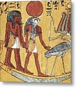 Tomb Of Sennedjem. 1306 -1290 Bc Metal Print