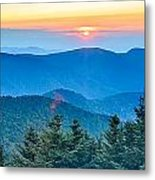 Top Of Mount Mitchell Before Sunset Metal Print