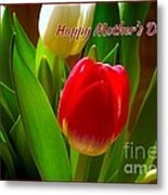 3 Tulips For Mother's Day Metal Print